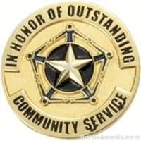 Community Service Award Lapel Pin