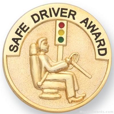 """1"""" Safe Driver Award Lapel Pin"""