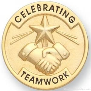 Celebrating Teamwork Lapel Pin