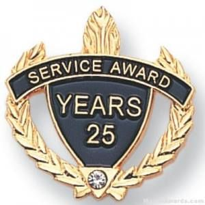 Service Award Pin set with Crystal Rhinestone Lapel Pin