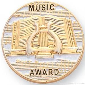 Music Award Lapel Pin