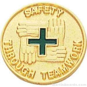 Safety Through Teamwork Enamel Lapel Pins