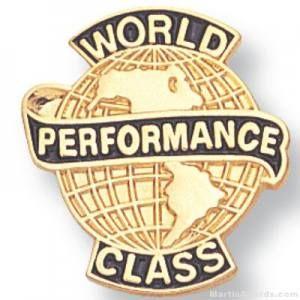 World Class Performance Lapel Pin