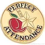 3/4″ Perfect Attendance Round Enameled Lapel Pins 1