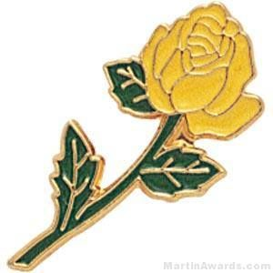 Yellow Rose Enamel Lapel Pins
