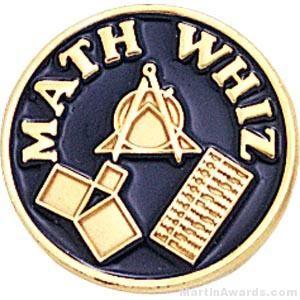 Math Whiz Round Enamel Lapel Pinsel Pins