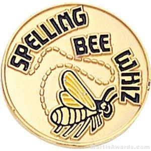 Spelling Bee Whiz Round Enamel Lapel Pins