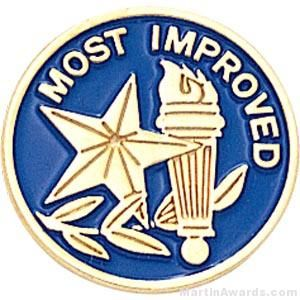 Most Improved Round Enamel Lapel Pins