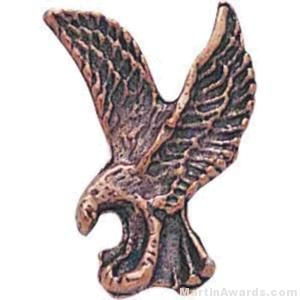 "1"" Sculptured Eagle Bronze Matte Finish Pin"