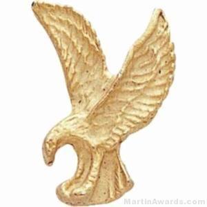 "1"" Sculptured Eagle Gold Matte Finish Pin"