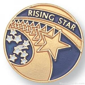 Rising Star Lapel Pin