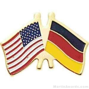 "3/4"" German American Flag Pins"