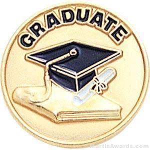 Graduate Round Enamel Lapel Pins