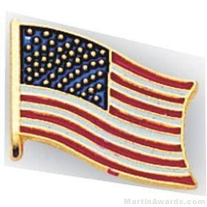 "1/2"" American Flag Pins"
