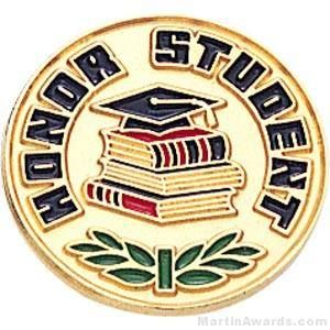 Honor Student Enamel Lapel Pins