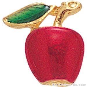 Apple Shaped Custom Lapel Pins