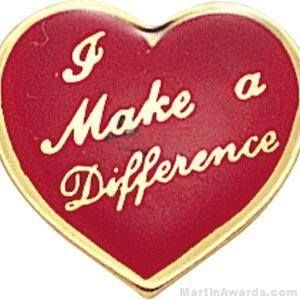 I Make A Difference Heart Lapel Pins Lapel Pins