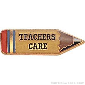 Teachers Care Custom Lapel Pins