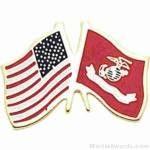 1″ USMC-American Flag Pins 1