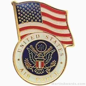 "3/4"" U.S. Air Force American Flag Pins"