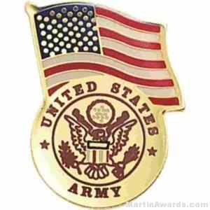 """3/4"""" U.S. Army American Flag Pins"""