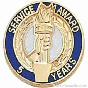 "3/4"" Service Recognition Award Pins 25 Years"