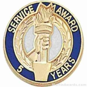 """3/4"""" Service Recognition Award Pins 15 Years"""