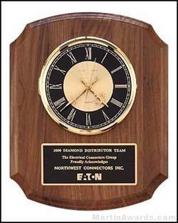 Walnut Wall Clock Plaque