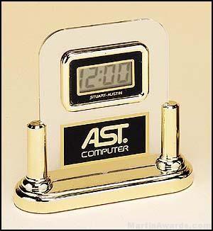 Acrylic Digital Clock with Engravable Plate