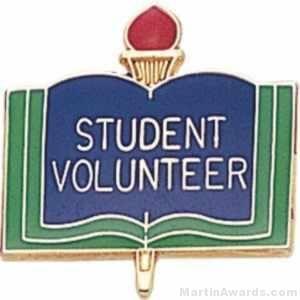 "3/4"" Student Volunteer Pin"