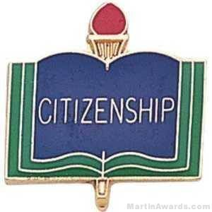"3/4"" Citizen School Award Pins"