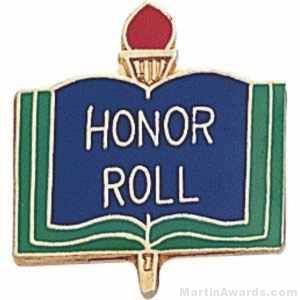 "3/4"" Honor Roll School Award Pins"