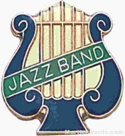 """5/8"""" Enameled Jazz Music Pin"""