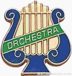 """5/8"""" Enameled Orchestra Music Pin"""