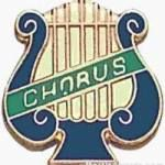 5/8″ Enameled Chorus Music Pin 1