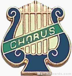 """5/8"""" Enameled Chorus Music Pin"""