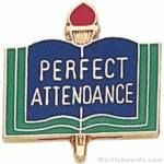 3/4″ Perfect Attendance School Award Pins 1
