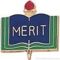 """3/4"""" Merit School Award Pins"""