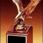 Eagle Award – Antique Bronze Cast Eagle with Walnut Base 1