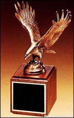Eagle Award - Antique Bronze Cast Eagle with Walnut Base